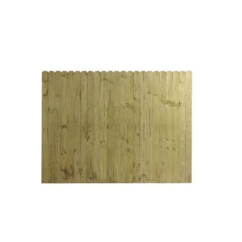 ear fence panels shop wood fencing 6 x 8 ear stockade fence panel acq ca b at lowes