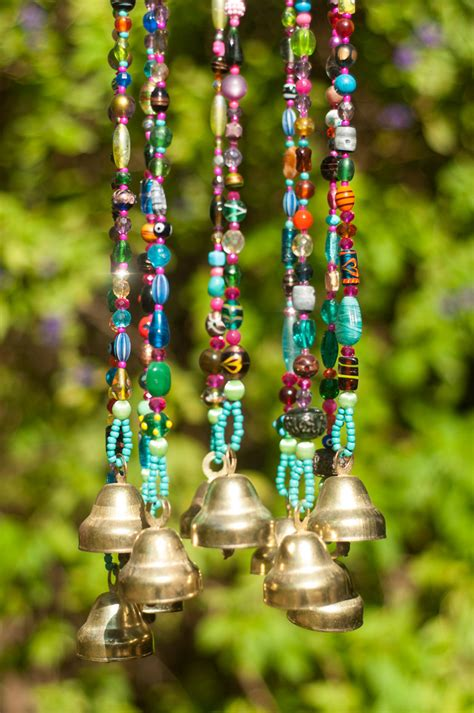 diy beaded wind chimes wind chime beaded mobile with brass bells sun catcher