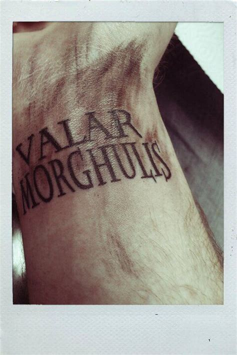 valar morghulis tattoo valar morghulis valar dohaeris tattoos