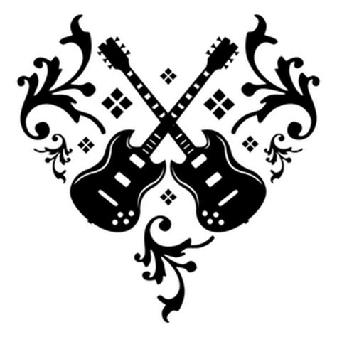 tattooed heart guitar cover hannikate real music notes tattoos
