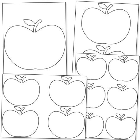 free apple templates free printable apple stencils printable treats