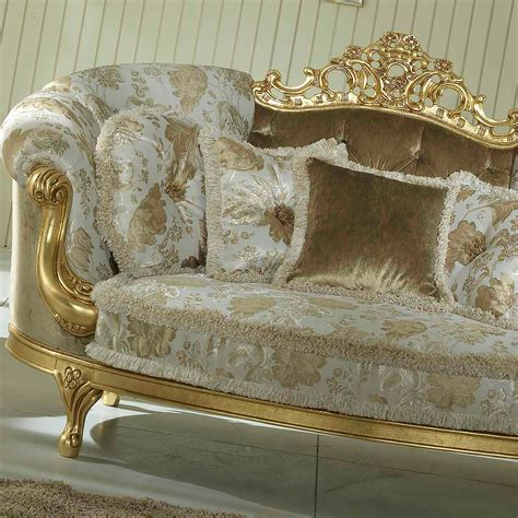 Baroque Style Italian Gold Leaf 2 Seater Sofa Juliettes
