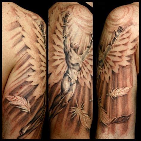 angel wings tattoo model angel flying towards the sun tattoo tyler pinterest