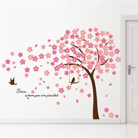 Cherry Blossom Tree Wall Sticker muurstickers kinderkamer uiltjes o boyu2026 een boom