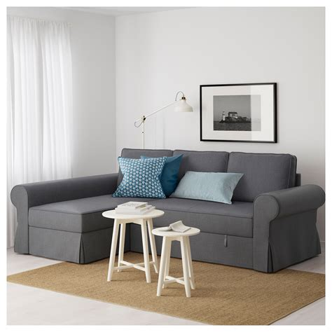 sofa bed with chaise longue backabro sofa bed with chaise longue nordvalla dark grey