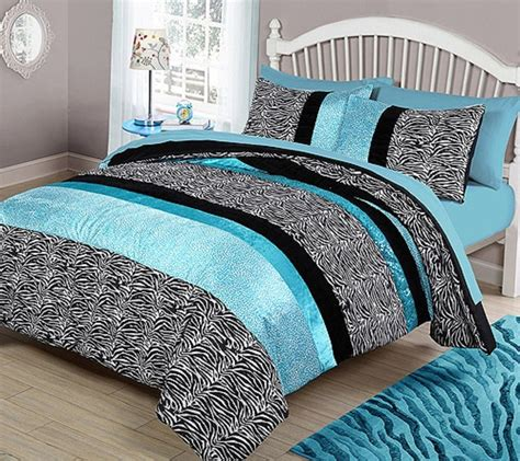 zebra print bedding teal zebra animal print full queen bedding comforter set