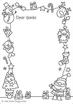 christmas borders coloring page 16 free letter to santa templates for kids xmas dear