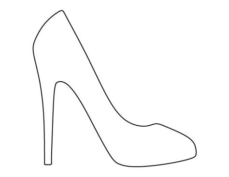 high heel shoe template craft high heel pattern use the printable outline for crafts