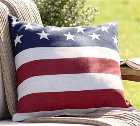Pottery Barn Outdoor Pillow by Pottery Barn American Flag Outdoor Pillow