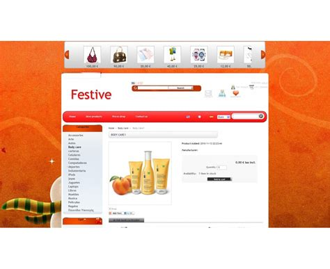 prestashop theme editor festive prestashop template with theme editor