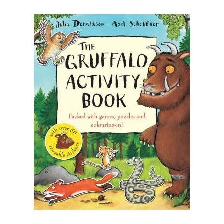 libro the gruffalo and friends the gruffalo activity book english wooks