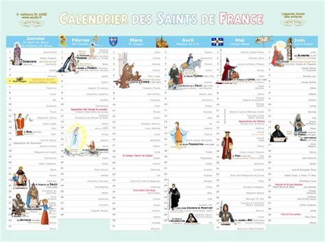 Calendrier Saints Catholiques St Jude Editions