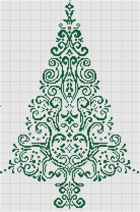 cross stitch tree christmas pinterest