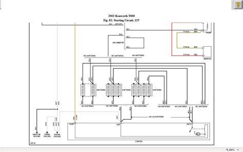 kenworth    starter circuit wiring diagram