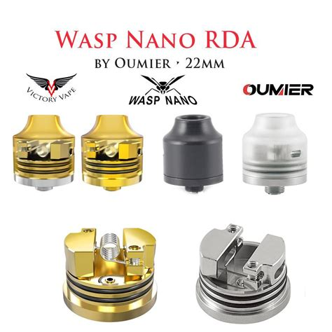 Wasp Nano Rda By Oumier wasp nano rda by oumier 22mm squonk ready victory vape