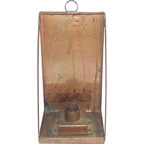 Copper Wall Sconce Made Copper Wall Candle Sconce From Bonnieboswellantiques On Ruby