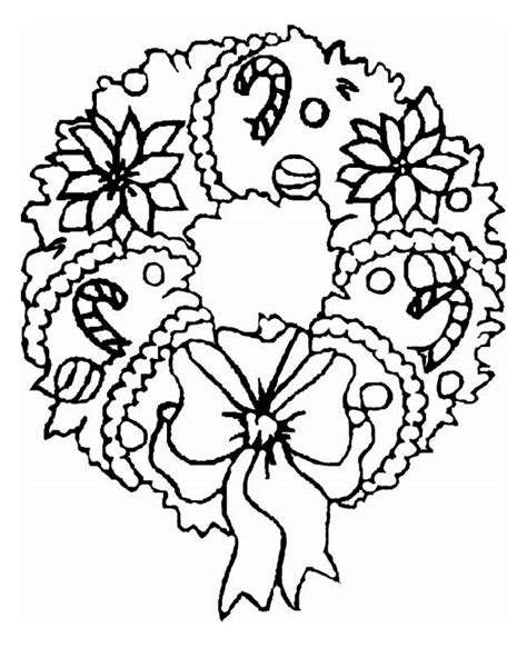 coloring pages of christmas reefs a sweet christmas wreath ornament on christmas coloring