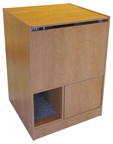 Litter Box Cabinets by Cat Litter Box Furniture Out Of Sight Litter Box Cabinet