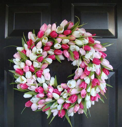 spring wreath wreath spring spring tulip wreath by spring tulip spring wreath pinterest home decor