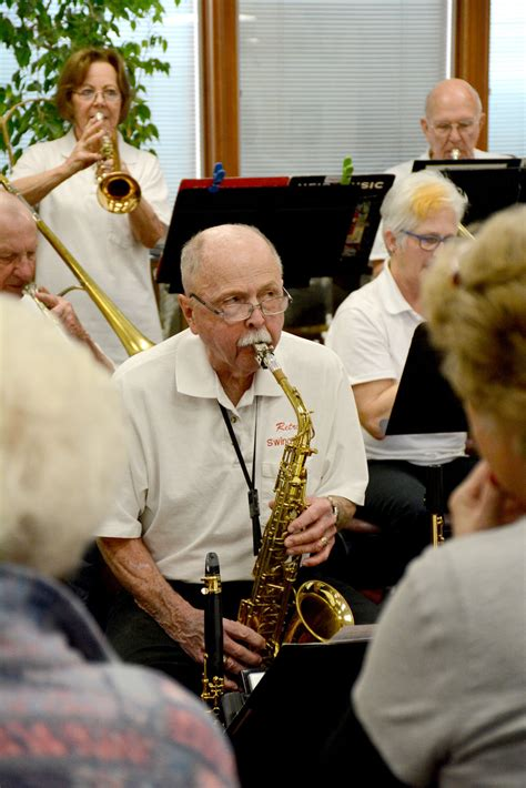 christian swing bands retro swing band performs for seniors community