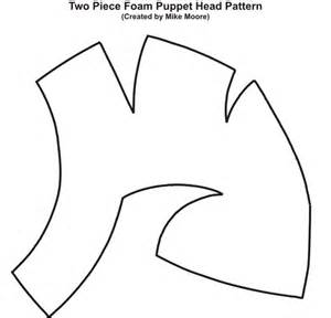 puppet template pattern for two foam puppet created by mike