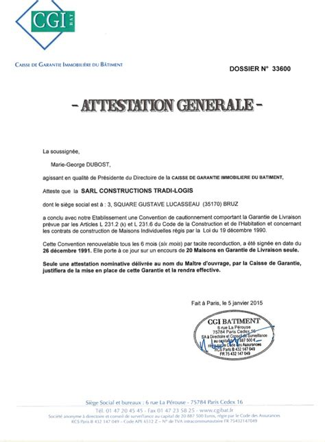 Exemple De Lettre Garantie Locative Exemple D Attestation De Garantie