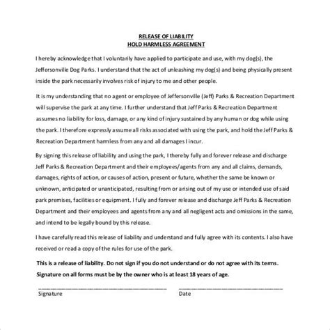 sle of hold harmless agreement hold harmless agreement 30 documents in pdf