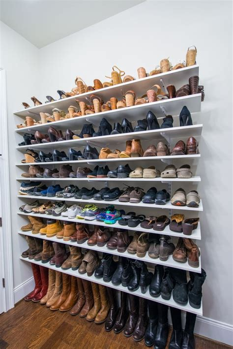 diy shoe closet keep your shoes on point with adjustable shelving like