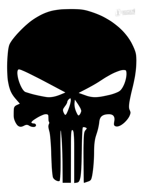 punisher skull stencil skull stencil punisher skull and