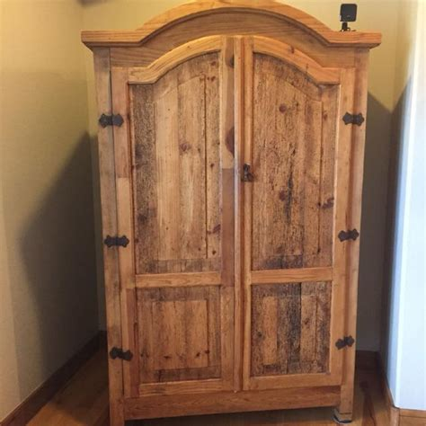 rustic tv armoire best pottery barn rustic armoire great condition being