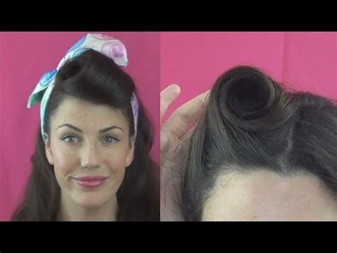 how to roll front of hair how to roll victory rolls 6 different ways vintagious