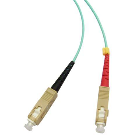 10 gigabit fiber cable 10 gb aqua lc sc multimode duplex fiber optic cable 50