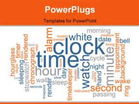 word cloud concept illustration of clock time powerpoint