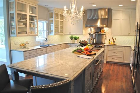 Super White Countertops   Transitional   kitchen   Karen