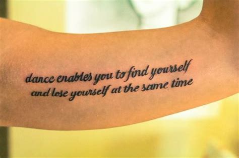 dance quote tattoo dance tattoo quotes quotesgram