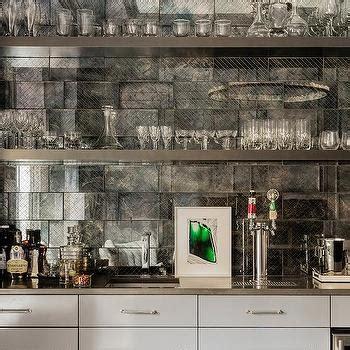 mirror backsplash home bar traditional with mirror subway wet bar mirror backsplash design ideas