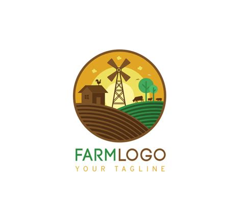 farm logo amp bcard template the design love