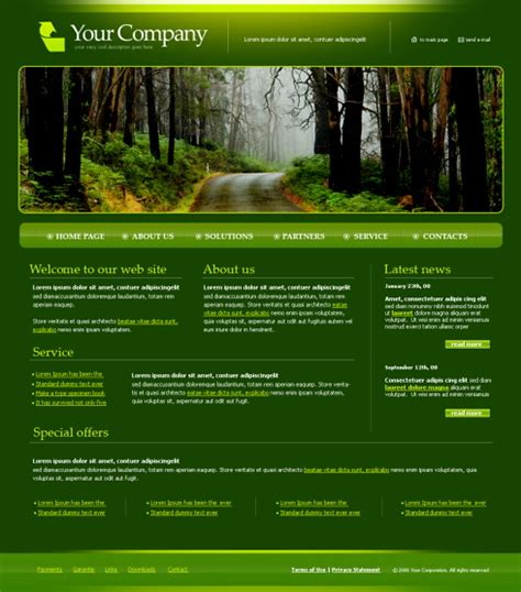 4202 nature landscapes website templates dreamtemplate