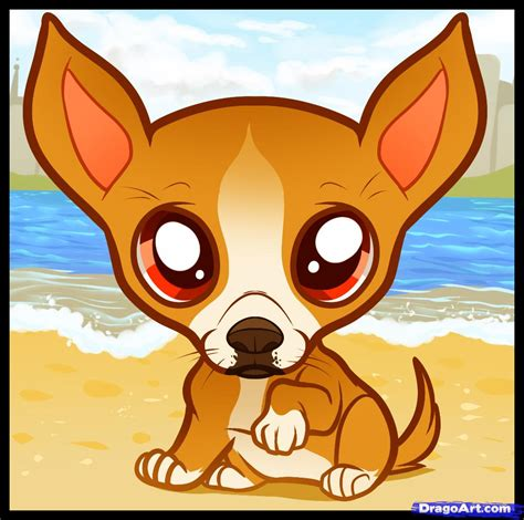 How To Draw A Chiwawa how to draw a chihuahua puppy chihuahua puppy step by