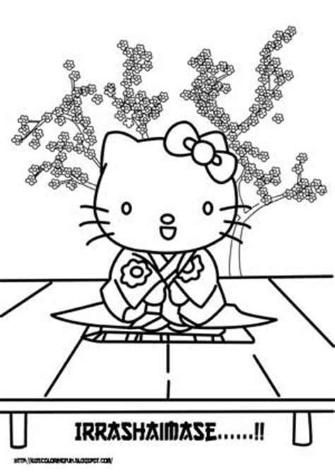 japanese hello kitty coloring pages japanese hello kitty learn to coloring