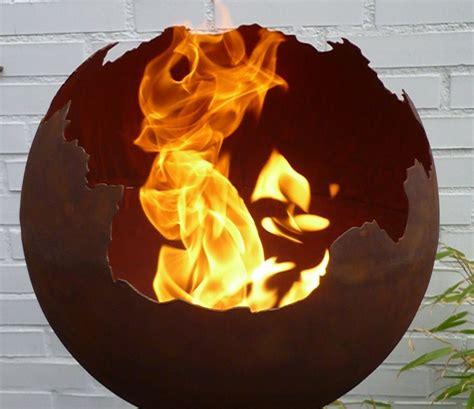 feuerschale brennpaste feuerkugel feuerschale feuer kugel metall rost optik