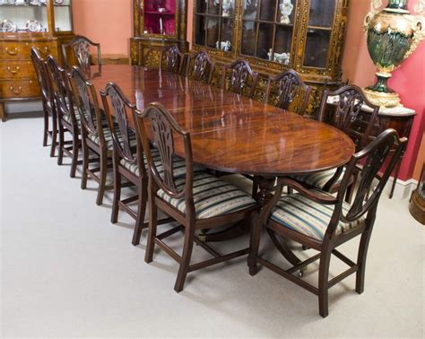 antique regency dining table  chairs  regency