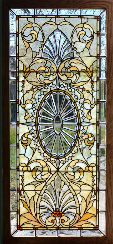 Door Wall Sticker Stained Glass With Bevels Self Stained Glass Stickers For Doors