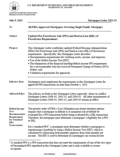 Fha Loan Approval Letter Fha Sales And Hud Pre Foreclosure Sale Program