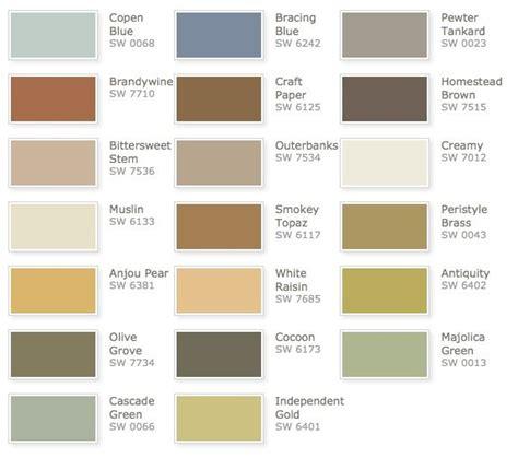 sherwin williams color palettes sherwin williams rustic refined color palette color