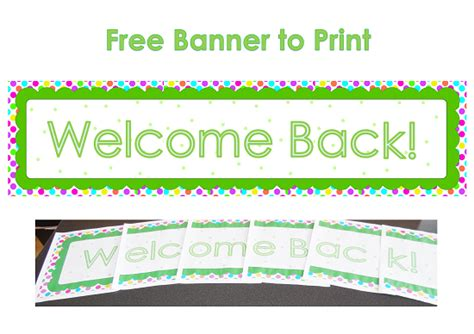 welcome back banner printable template 5 best images of welcome back banner printable welcome