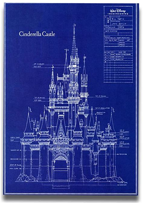 castle blueprint lego ideas cinderella castle