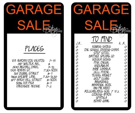 garage sale date idea the dating divas