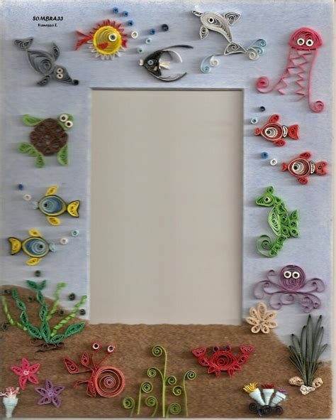 quilling design frame quilling picture frame the sea by sombra33 on deviantart