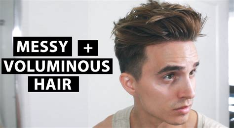 messy piecey look hair products messy voluminous hair men s hairstyle tutorial youtube